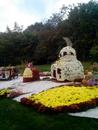 Печька из цветов.