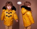 545Куртка, утеплитель 300, зима. цвета:горчичный, бутылочный, синий, серый размеры 104-122 цена без меха $30,03, с мехом $53,30 / размеры 128-146цена без ме