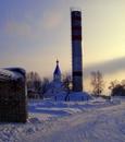 Солнечное небо зимы