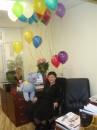 А так меня на работе с днем рожденья поздравляли На столе сидит зайчик 72 см