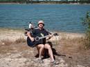 на озере с песней.