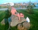 и снова аквапарк Я с Сеней