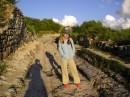 Это в Бахчисарае, на самом верху горы где была крепость, там еще видно что остались впадинки от железных колес