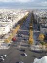 осенний Париж с высоты Триумфальной арки