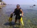 а я был под водой....там ярко..очень!!!! поехали кто то со мной в следущем году!