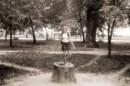 На пенёчке в парке КПИ! 2002!