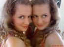 С Сестрой близняшкой, а точнее возле зеркала!