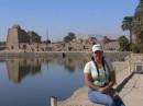 Озеро в Карнакском храме, где жрецы совершали ритуальные омовения.