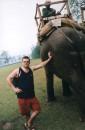я и слон (я - слева) :-))))