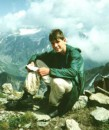 Этим летом я побыал на Кавказе. Я сижу на одном из