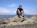 Я, Эдинбург, берег моря.