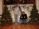 """Мой одногруппник Саня и я. Он эту фотографию назвал """" Я и мой Палкан на границе"""" :)"""