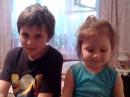 Олежка и Аленка сынишка и племянница