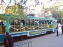 ...на трамвай,конечно!!! )))