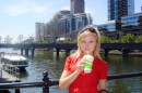 Me in Melbourne, on the bridge over the Yarra River