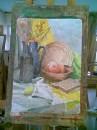 А вот что я успел сворганить на парах по живописи! Да Винчи и рядом не валялся! :) P.S. Не люблю живопись!