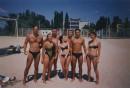 на пляже с друзьями из Питера