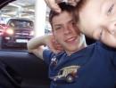 я с братиком в скоросной иномарке