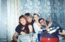 моя вся любимая семейка(слево на право): я, Мой любимый человечек (Леша), его сестра (Ира) и Муж Иры (Саша)