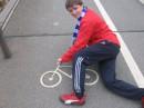 На велогонках...)))