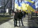 об*єднавшись,ми переможемо...мітинг біля памятника Шевченка