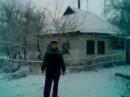 первый снег на даче