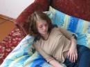 устала...уснула...папарации подкрались незаметно...