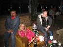 а это я с друзьями в отеле. кальян курим.