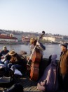 На Карловом мосту, Прага, - уличные музыканты