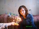 Задуваю свечи...на праздничном...апельсине)))
