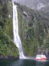 Водопадик, Новая Зеландия, южный остров, milford sound