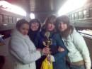 Мы выиграли кубок на чемпионате Украины с аеробики и черлитинга