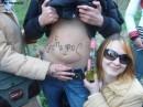 Долго я не могла избавится от этого маркера))))))...дня 3 смывалось