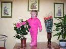 8 Марта! Хороший праздник! Год назад этот же цветочек цвел, а Яна только сидела возле него.