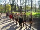 """Скауты....во Львове эти ребята называют себя """"плазуни""""....вот это они так топают в церковь Святого юрЫ на какое-то там праздничное служение)"""