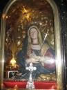 май 2007...Израиль...Иерусалим...Храм Гроба Господнего...Дева Мария...все украшения на ней и возле нее из чистого золота...