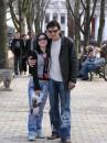 1 апреля 2006 в Одессе на Приморском бульваре вместе с младшей дочкой