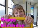классный подарочек себе на днюху сделала-покатась бесплатно на трамвайчике..;)))