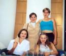 Вика Карасева( Черненко), Яна Литовченко, Я и Оля Сижук. 1 сентября, 4 курс.