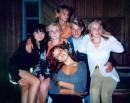 Мне 16 лет. День рождения отмечала у бабушки, в селе(Это мы в клубе). Я, Крупка Леся, Дерило Рома, Вика Зинченко. Внизу -  Кальмус Женя. Вверху - моя подружка Наташа Венгер, дружим с детства.