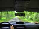 їдемо на дачу....красивая дорога у нас в заповеднике...