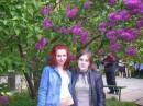 Я с Аней... Ботаним в ботаническом саду:)