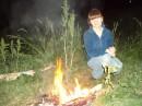 А это мы в лес с ночевкой ходили! Кострик развели! :-)