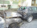 Во дворе спалили машинку....((