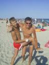 Сейчас Димон должен упасть на песок)))