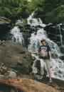 возле какогото водопада...птом я там голая купалась....