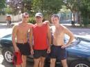 Бригада :)  А если серьезно Я с Русланом и Егором. Август 2006