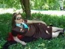 В Малом ботаническом саду!!! обедаю