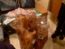 Стол сделан из Гнелого Пня!