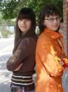 Это я с Вероникой, она моя подруга, и по совместительству бывшая одноклассница!